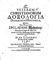 De veterum christianorum doxologia: dissertatio historica