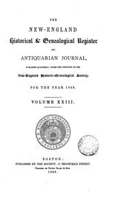 THE NEW-ENGLAND HISTORICAL & GEOLOGICAL REGISTER AND ANTIQUARIAN JOURNAL,