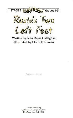 Rosie s Two Left Feet PDF