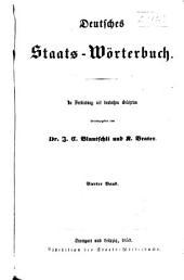 Deutsches staats-wörterbuch: Band 4