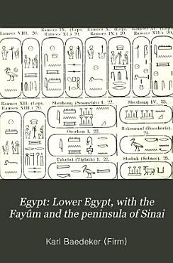 Egypt  Lower Egypt  with the Fay  m and the peninsula of Sinai PDF
