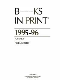 Books in Print 1995 96