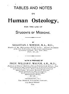 Tables and Notes on Human Osteology Book