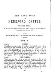 The Herd Book of Hereford Cattle: Volume 24