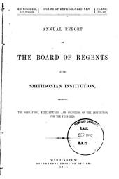 Report of the Board of Regents: Volume 21