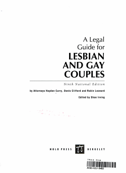 A Legal Guide for Lesbian and Gay Couples PDF