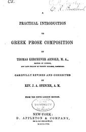 A Practical Introduction to Greek Prose Composition: Part 1