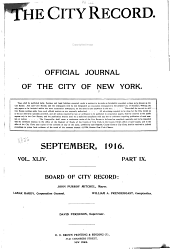 The City Record: Official Journal, Volume 44, Part 10