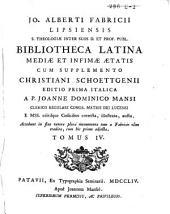 Bibliotheca latina mediae et infimae aetatis: Volume 2