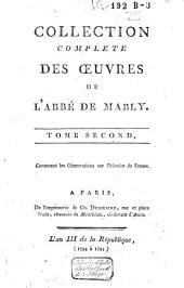 Collection complète des œuvres de l'abbé de Mably: Volume2