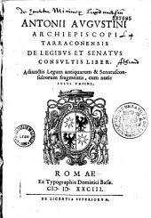 De legibus et Senatus consultis liber