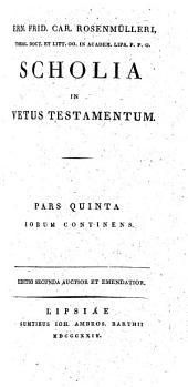 Scholia In Vetus Testamentum: Iobus, Volume 5