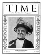 TIME Magazine Biography--Carrie Chapman Catt