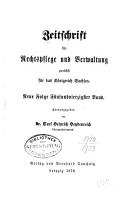 Zeitschrift f  r Rechtspflege und Verwaltung PDF