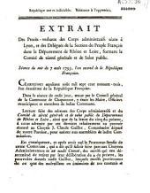 Séance du soir du 7 août 1793 (confirmant Guillot dans ses pouvoirs)