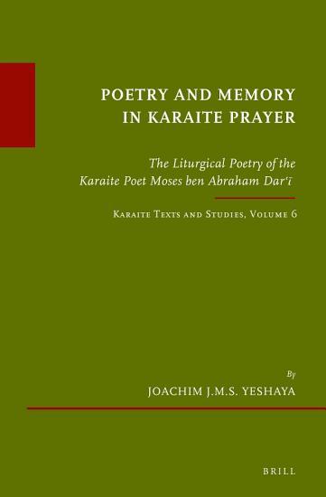 Poetry and Memory in Karaite Prayer PDF