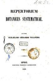 Repertorium botanices systematicae: Volume 1