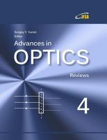 Advances in Optics  Reviews   Vol  4 PDF