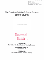 The Complete Outfitting and Source Book for Sport Diving