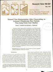 Natural Tree Regeneration After Clearcutting in Arizona's Ponderosa Pine Forest: Two Long-term Case Studies
