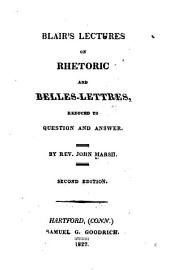 Blair's Lectures on Rhetoric and Belles-lettres