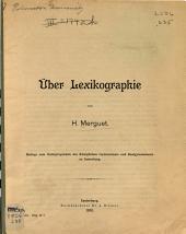 Über lexikographie