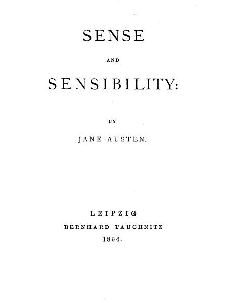 Download Sense and Sensibility Book