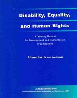 Disability  Equality  and Human Rights PDF