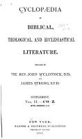 Cyclopaedia of Biblical  Theological  and Ecclesiastical Literature  C  D PDF