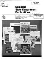 Selected State Department Publications PDF