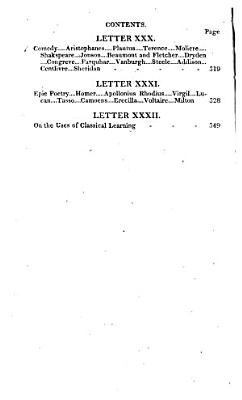 Letters on Literature  Taste  and Composition  Addressed to His Son