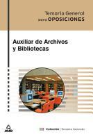 Auxiliar de Archivos Y Bibliotecas Temario General PDF