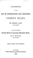 Rudiments of the Art of Constructing and Repairing Common Roads PDF