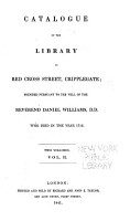Catalogue of the Library in Red Cross Street     PDF