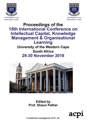 ICICKM 2018 15th International Conference on Intellectual Capital Knowledge Management   Organisational Learning PDF