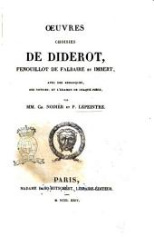 Oeuvres choisies de Diderot, Fenouillot de Falbaire et Imbert, avec des remarques, des notices, et l'examen de chaque pièce, par mm. Ch. Nodier et P. Lepeintre
