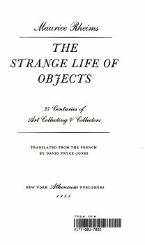 The Strange Life of Objects PDF