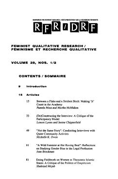 Documentation Sur la Recherche F  ministe PDF