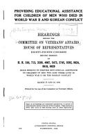 Providing Educational Assistance for Children of Men who Died in World War II and Korean Conflict PDF