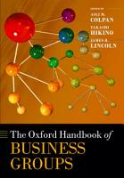 The Oxford Handbook of Business Groups PDF