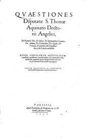 Quaestiones de potentia Dei et de vitiis et virtutibus