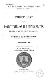 Check List of the Forest Trees of the United States: Their Names and Ranges