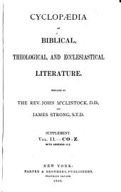 Cyclopaedia of Biblical, Theological, and Ecclesiastical Literature: Volume 12