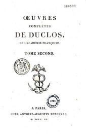 Oeuvres complètes de Charles Duclos