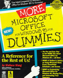 More Microsoft Office for Windows 95 for Dummies PDF
