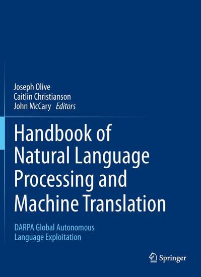 Handbook of Natural Language Processing and Machine Translation PDF