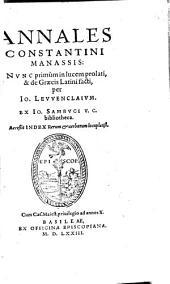 Annales ¬Constantini ¬Manassis