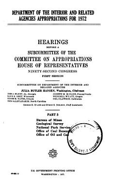 Department of the Interior and Related Agencies Appropriations for 1972