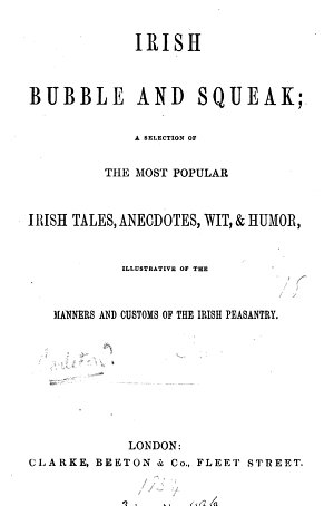 Irish bubble and squeak  a selection of the most popular Irish tales