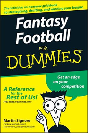 Fantasy Football For Dummies PDF